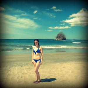 Me in a bikini in Costa Rica. Not perfect... but perfect for me.