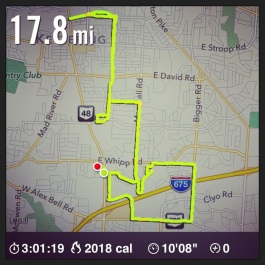 marathon training long run