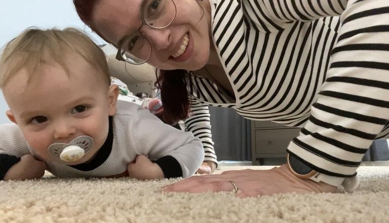quarantine mom day 1 pushups