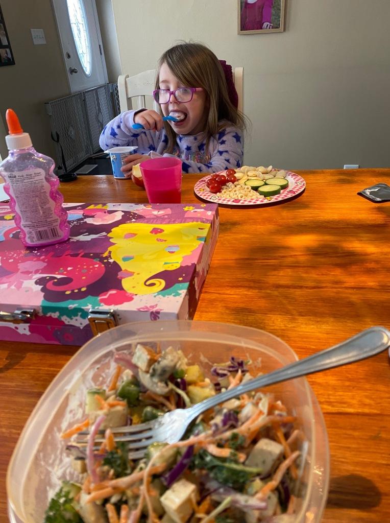 quarantine mom day 2 lunch